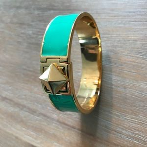 Kate spade green enamel bracelet bangle gold